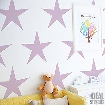 Star Kindergarten Dekorieren Schablone Kinderzimmer Haus Wand