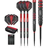 Red Dragon Milano RS: 23g - 90% Tungsten Steel Darts with Flights, Shafts, Case & Red Dragon Checkout Card