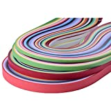 Kenefa Paper Quilling Strips Set 26 Colors 1040 Strips 3/5/7/10mmX38cm ( Pack of 4 Sizes)
