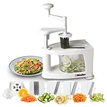 Müeller Spiral-Ultra 4-Blade Spiralizer, 8 in 1 Spiral Slicer, Heavy Duty Vegetable Pasta Maker and Mandoline Slicer for Low Carb/Paleo/Gluten-Free Meals