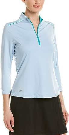 adidas Womens 3/4 Sleeve Zip Polo TW3108F8-P, Womens, 3/4 Sleeve Zip Polo, TW3108F8