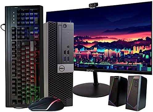 DellBusiness DesktopOptiplex 7040 Computer, Intel Core i7 Quad Core, 16GB RAM, 500GB SSD, DVD, Wi-Fi, Windows 10 Pro, Wireless Keyboard, 1080p Webcam, New 23.6″ Monitor (Renewed)