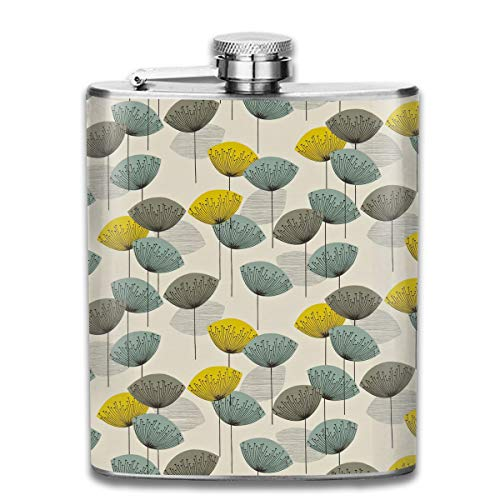 Laki-co Rugby Dandelion Wine Water Hip Flask for Liquor Stainless Steel Bottle Alcohol 7oz