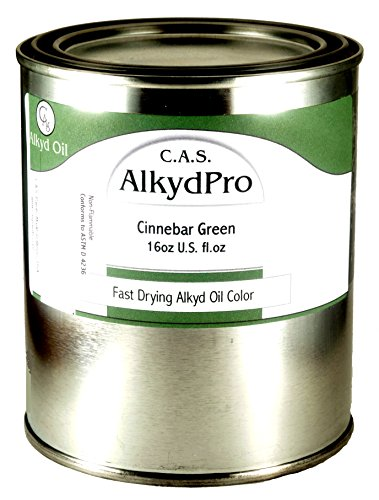 C.A.S. Paints AlkydPro Fast-Drying Oil Color Paint Can, 16-Ounce, Cinnabar Green