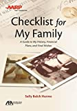 img - for ABA/AARP Checklist for My Family: A Guide to My History, Financial Plans and Final Wishes book / textbook / text book