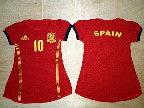 Amazon.com: España Nacional Equipo De Fútbol Vestido para ...