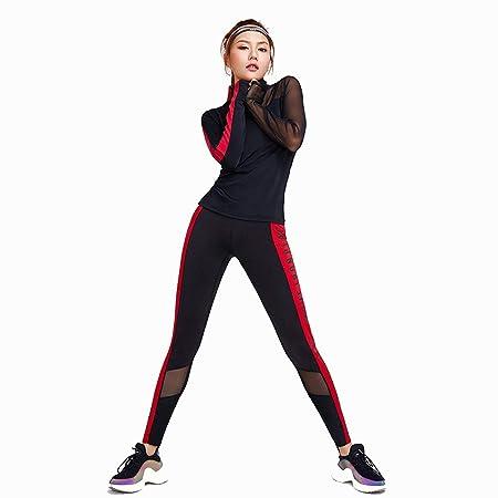 Conjuntos de ropa de yoga Sudadera para mujer + Pantalones ...