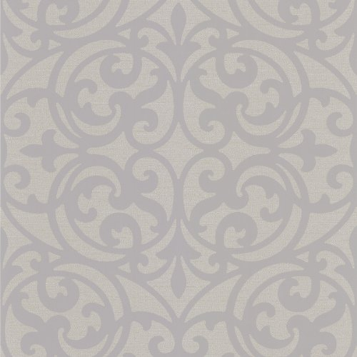 Decorline DL30629 Sonata Grey Ironwork Wallpaper, Grey Grey Sonata Sonata