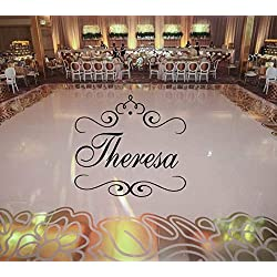 Susie85Electra Girls Dance Floor Decal Personalized Princess Crown Custom Name Monogram Shabby Chic Frame Birthday Party