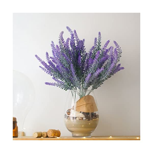 DiDaDi-4-Pcs-Artificial-Flowers-Flocked-Lavender-Bouquet-Romantic-Fake-Lavender-Bunch-in-Purple-Artificial-Plant-for-Home-Wedding-Garden-Decor
