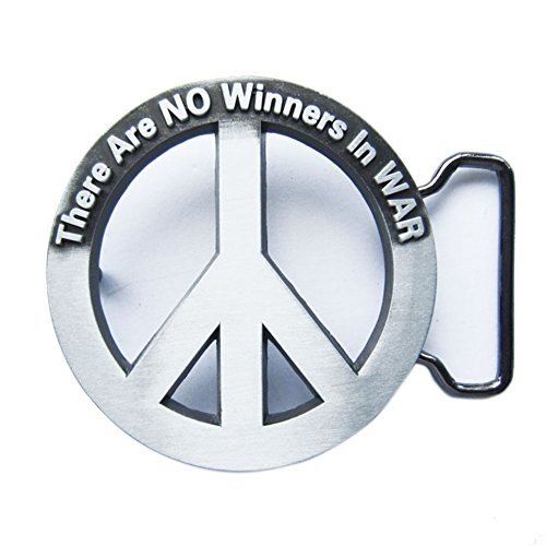 - No Winners in War Peace Sign Belt Buckle Gurtelschnalle Boucle de ceinture
