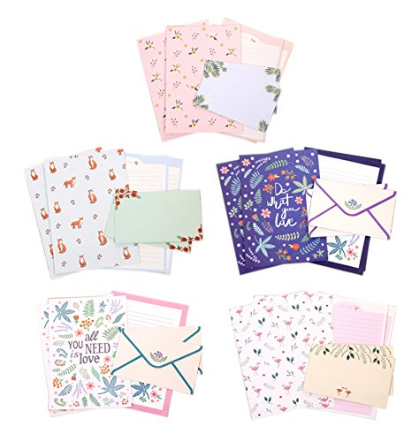 IMagicoo 48 Cute Lovely Writing Stationery Paper Letter Set with 24 Envelope/Envelope Seal Sticker (8)