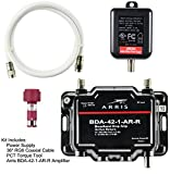 Arris 1-Port Cable, Modem, TV, OTA, HDTV Amplifier Signal Booster with Active Return And Coax Cable Kit