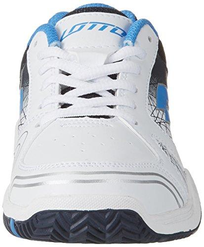 Lotto T-Strike Ii Jr L, Zapatillas de Tenis Unisex Niños Blanco (Wht/blu Atl)