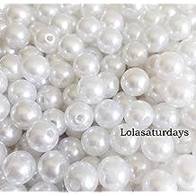 LolaSaturdays 10mm Pearls 1-Lbs loose beads vase filler White