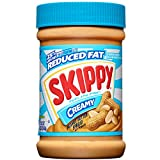Skippy Reduced Fat Creamy Peanut Butter Spread, 16.3 Ounce (Pack of 6)