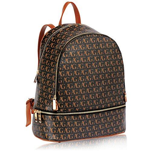ANNA GRACE - Bolso mochila  de piel sintética para mujer Design 1 - Black