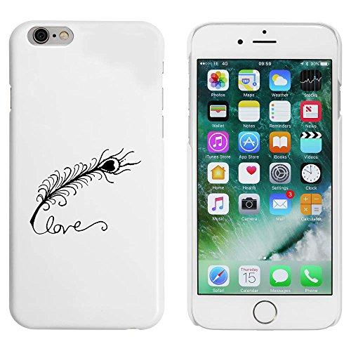 Blanc 'Amour et Plume' étui / housse pour iPhone 6 & 6s (MC00006850)