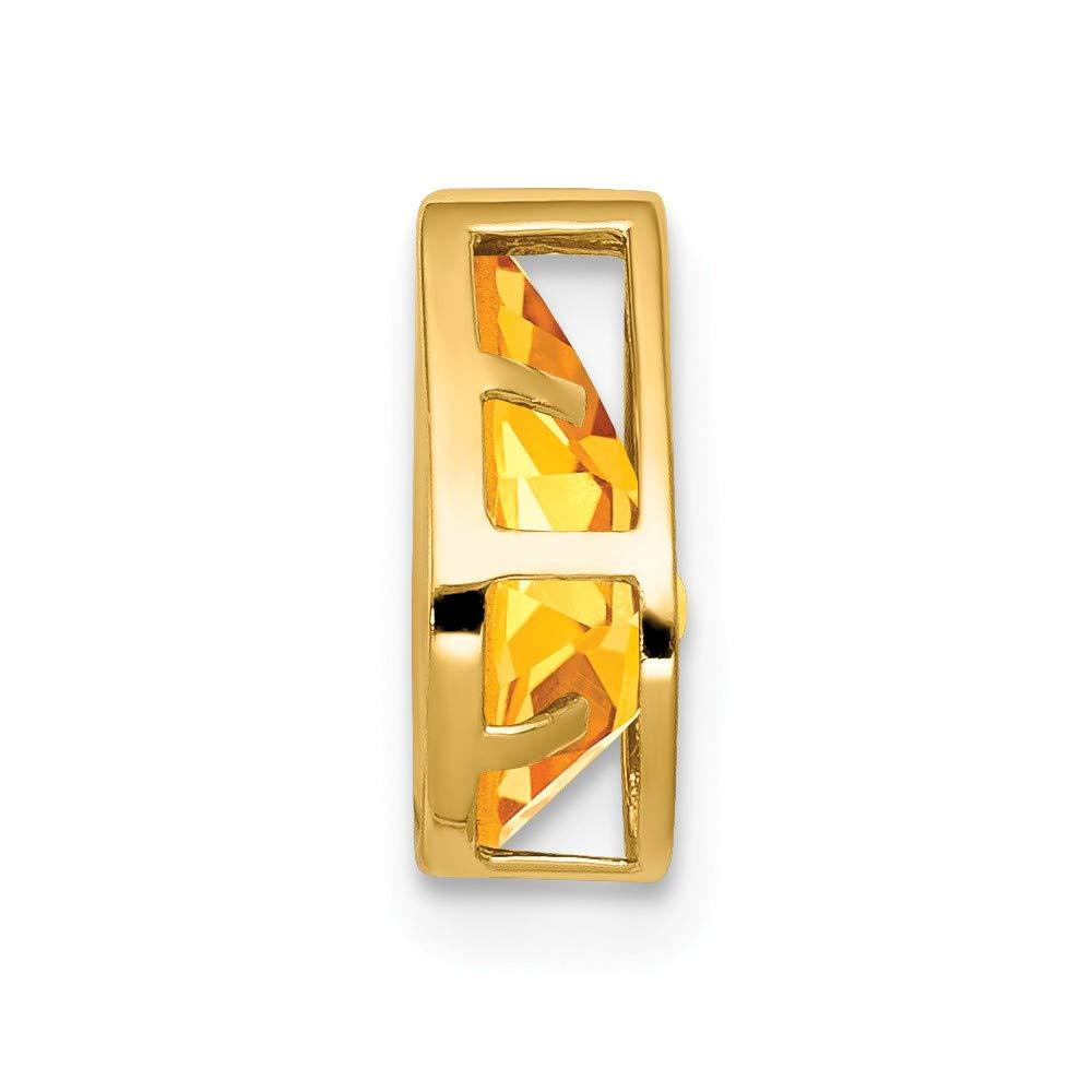 Jewelry Stores Network 14K Yellow Gold 9X6mm Pear Citrine Bezel Pendant 10x7mm