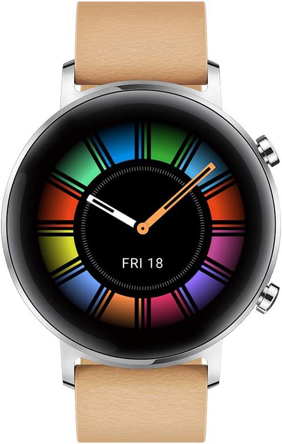 Huawei Watch GT 2 Classic - Smartwatch con Caja de 42 mm (Hasta 2 Semanas de Batería, Pantalla Táctil AMOLED de 1.39