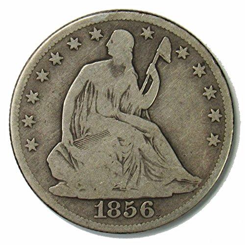 1856 O Seated Liberty Half Dollar w/ Arrows 50¢ Very Good (1856 Half Dollar)