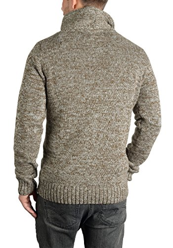 Coton Pour Tricot Prentice Pull 100 Pull En Homme Avec over 5409 Maille Col Droit solid Dune Grosse ASwUxU6