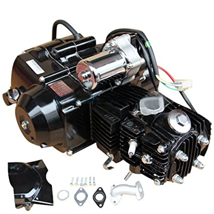 51ig9tikoXL._SX425_ amazon com 110cc 4 stroke engine motor automatic transmission w