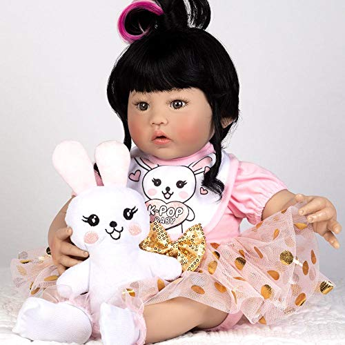 Paradise Galleries Reborn K-Pop Girl -18 inch Asian Korean Doll, GentleTouch Vinyl, 5-Piece Doll Gift Set (K Doll)