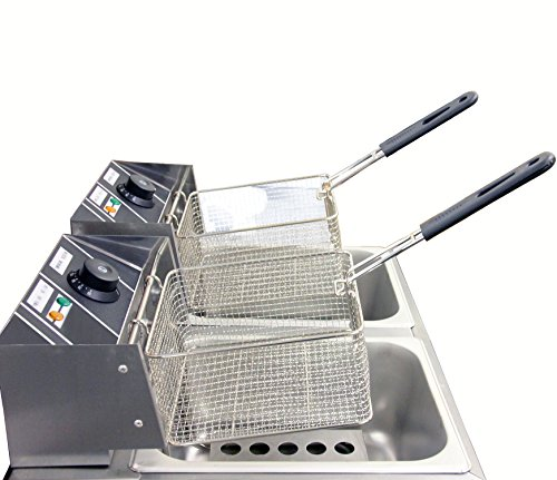 Clevr 11 Liter Capacity Commercial Stainless Steel Deep Fryer Machine 110v Double Two Tank Design by Clevr (Image #7)