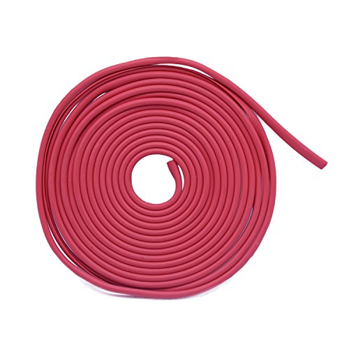 16Ft (5M) Car Edge Door Trim Seal Protector, ECLEAR Moulding Anti Scratch Rubber Strip Guard Cover For Universal Vehicle SUV,Light red