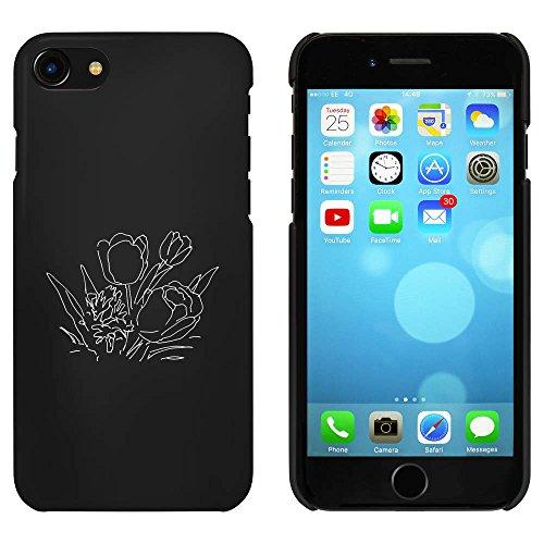 Noir 'Crocus' étui / housse pour iPhone 7 (MC00069225)