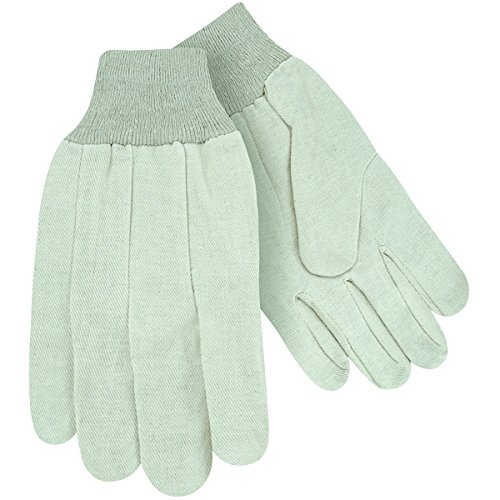Steiner 00008-L Work Gloves, White Cotton Canvas 8-Ounce Knit Wrist, Large - Ounce Canvas 8 Glove