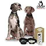 Small / Medium / Large Dog Training Collars with 800 Yards Range Remote Rechargeable Electric Dog Collar Rainproof or Waterproof with Ultrasonic Lights, Vibration, Beep & Shock All Dogs By Our K9 …