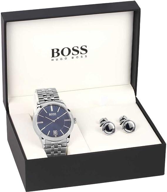 Hugo Boss 1570045 - Set de reloj y gemelos para hombre: Amazon.es: Relojes