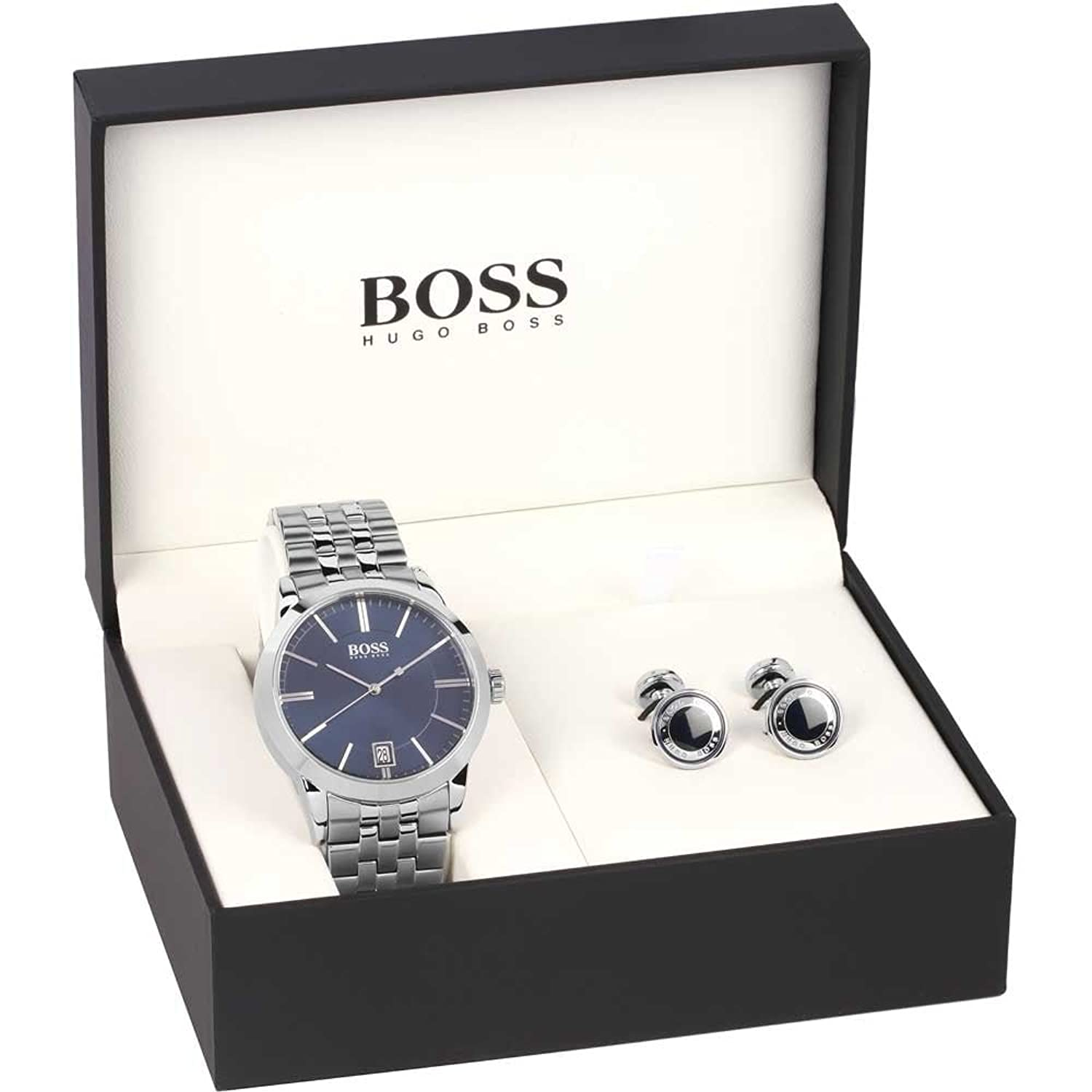 Mens Hugo Boss Cufflink Gift Set Watch 1570045: Amazon.co.uk: Watches