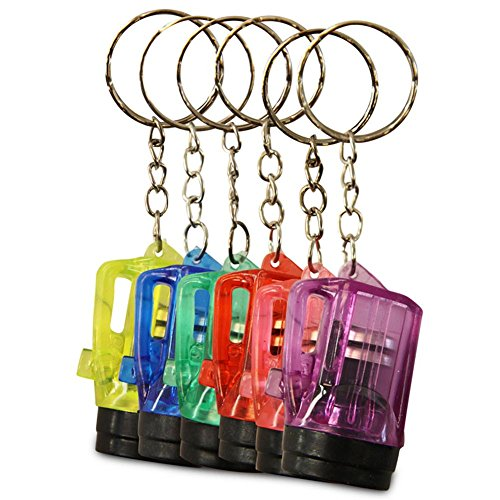 24x porte-clés lampe de poche lampe Vapor 4cm