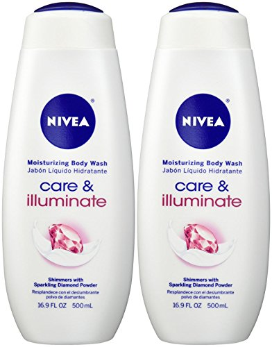 NIVEA Care & Illuminate Moisturizing Body Wash, Shimmers Wit