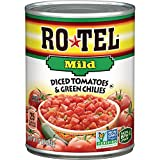 mexican chilies - ROTEL Mild Diced Tomatoes and Green Chilies, 10 Ounce