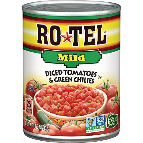 Ro-Tel Tomatoes Diced with Green Mild Chiles, 10 oz - Blended Mild Salsa