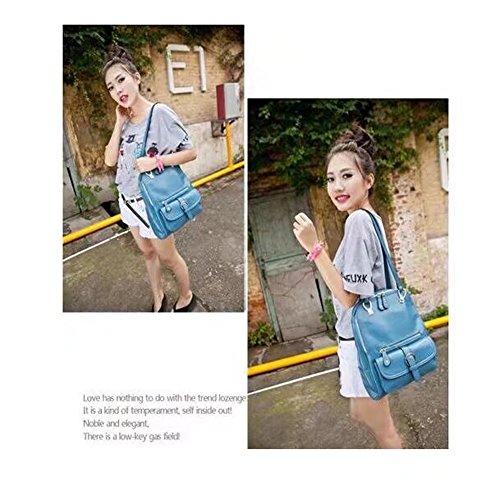 (26 * 11 * 30CM) (azzurro) di modo di tendenza delle donne dell'istituto universitario del sacchetto di spalla della borsa del sacchetto di spalla del sacchetto di spalla del sacchetto di spalla del c