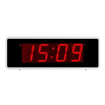 Kwanwa Portátil Pantalla Alarma Reloj con Números Grandes 1.4
