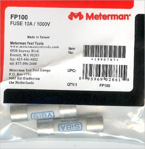 (REPLACEMENT FUSE PACK,PACK OF2,10A/1000V CERAMIC FUSES FOR 33XR,34XR,37XR,38XR by Amprobe )