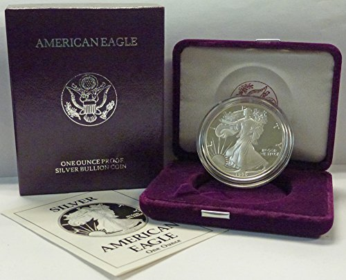 1990 S American 1 oz. Silver Eagle Dollar Proof US Mint - 1990 American Silver Eagle
