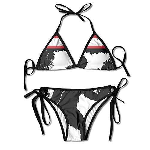 GSSHA Swim Suit Women Swimsuit Halter Two Piece Bigfoot Sasquatch Believe With UFO And Aliens (Sasquatch Suit)