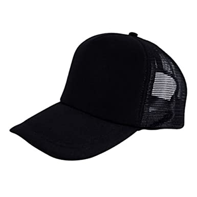 Bluelans® CLASSIC TRUCKER CAP HALF MESH BASEBALL HAT - 16 GREAT COLOURS  (Black) e019b36df63