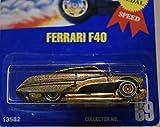 RARE HOT WHEELS 1995 GOLD PASSION TREASURE HUNT ERROR ON FERRARI F40 PACKAGE, HOT WHEELS 1995 TREASURE HUNT