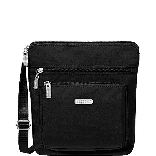 Sand Black baggallini RFID with Pocket Crossbody wzx6X1A
