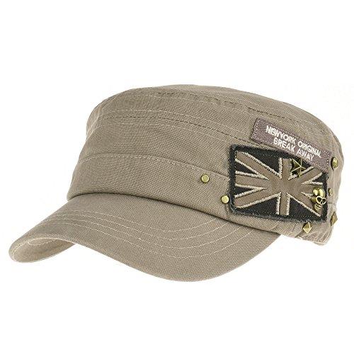 Gorras WITHMOONS Hat de ejército Camuflaje béisbol del Beige Estilo Union Studs CR4374 Jack Star Skull Cadet Cotton US Cap rRwaXnIr