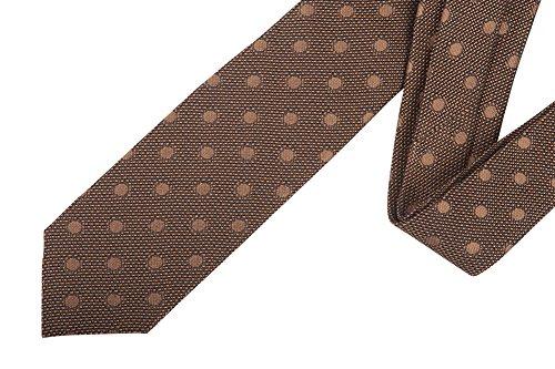 Tom Ford Brown Polka Dot Silk Neck Tie by Tom Ford..