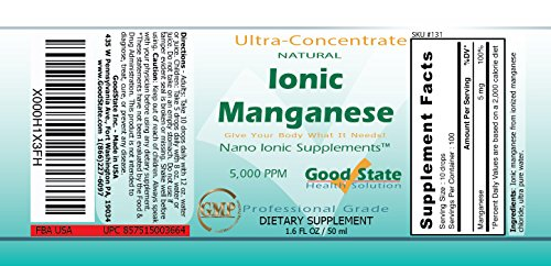 Good State Liquid Ionic Manganese Ultra Concentrate (10 Drops Equals 5 mg - 100 Servings Per Bottle) by Good State (Image #1)